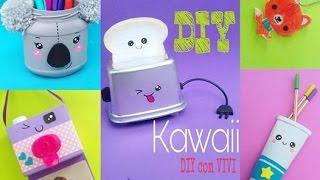 🐨DIY  Kawaii 10  ideias com material reciclado/🐺 feat Poly Gonçalves