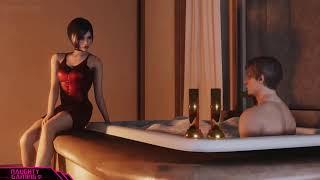 Resident Evil 2 Hidden Ada Wong Bath Tub Scene (Secret Cutscene)