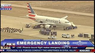 بالفيديو.. تهديدات أمنية تجبر طائرة أمريكية على الهبوط الاضطراري