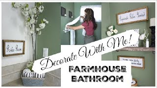 DECORATE WITH ME   Farmhouse Bathroom Makeover   Momma From Scratch