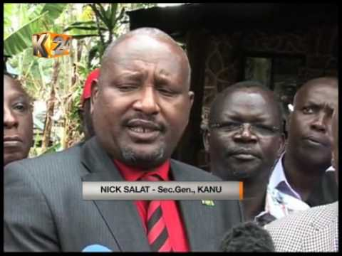 KANU resolves to back President Kenyatta's re-election bid.