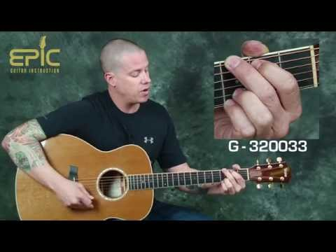 Learn Jason Aldean Fly Over States modern country acoustic guitar lesson w/ strumming chords slide