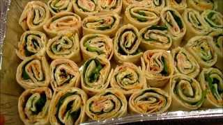 Simple Hors D'oeuvre (party Appetizer) -- Turkey Tortilla Roll-ups