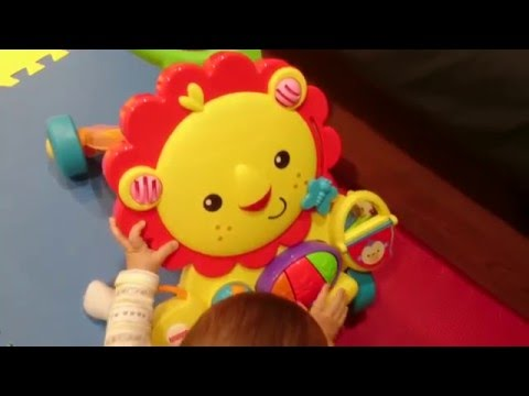Unboxing & Baby Playing with Fisher-Price Musical Lion Walker
