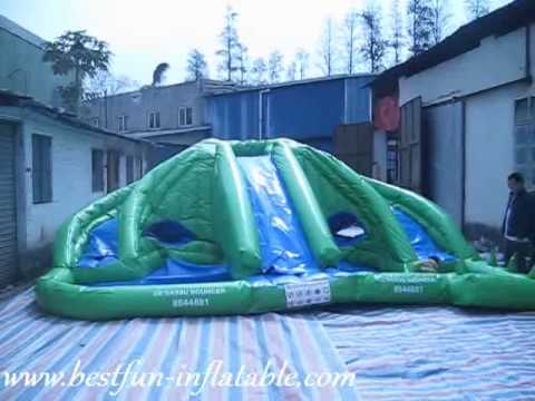 Inflatable Water Slide With Pool For Bigger Kids Youtube