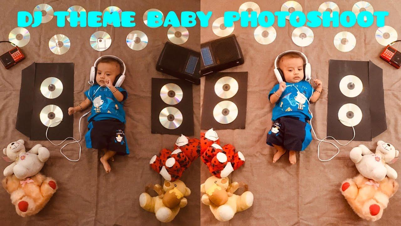 Cute Baby Photoshoot At Home Music Dj Theme Youtube