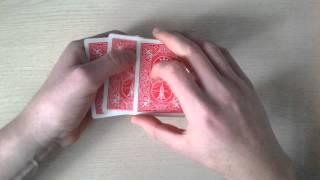 фокус иллюзия с тремя картами