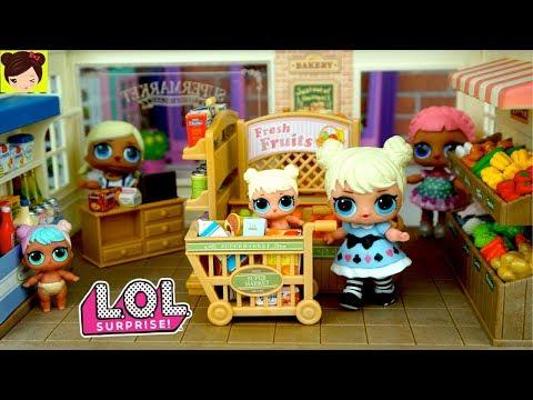Muñecas LOL Sorpresa Bebes Comprando en el Supermercado - Los Juguetes de Titi