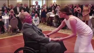 Touching video shows bride dancing with her terminally ill father