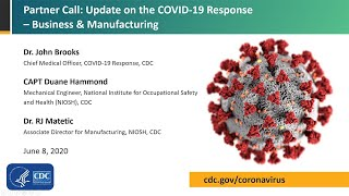 CDC Partner Update on COVID-19: Business and Manufacturing - June 8, 2020