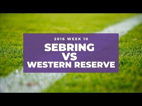 Sebring McKinley vs Western Reserve High School Football 2016   Week 10