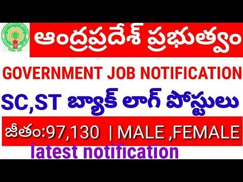 Andhrapradesh SC ST BACKLOG POSTS JOB NOTIFICATION