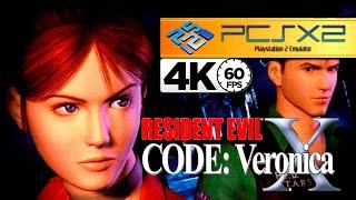 RESIDENT EVIL: CODE VERONICA X (PCSX2) | EMULADOR DE PS2 NO PC | 4K