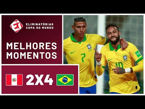 SHOW DE NEYMAR! BRASIL VENCE O PERU NAS ELIMINATÓRIAS DA COPA - MELHORES MOMENTOS (13/10/2020)