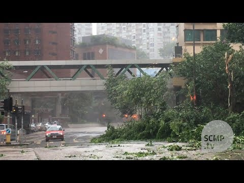Typhoon Hato hits Hong Kong
