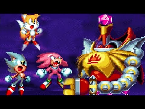 Sonic Mania SUPER Sonic Super Knuckles Super Tails GAMEPLAY