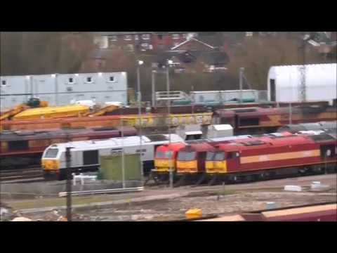 Toton Centre with lots of 'tug'ing of 'sheds'    - 18th February 2018