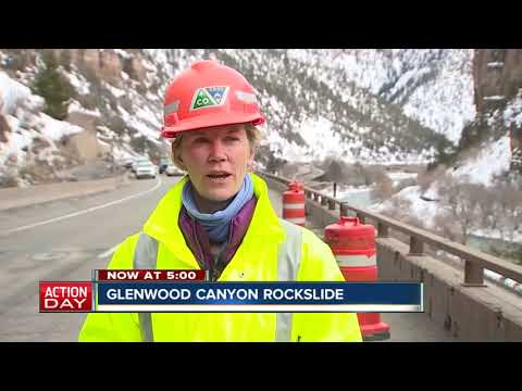 Large rock slide closes I-70 through Glenwood Canyon; some lanes could reopen Tuesday
