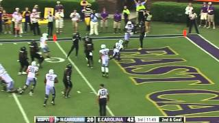 UNC Football: Highlights vs. ECU