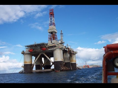 Helicopter -Transocean Rig chopper Takeoff