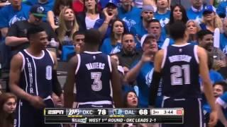 Oklahoma City Thunder vs Dallas Mavericks. Game #4. Playoffs NBA 2016