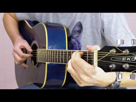 Малолетние шалавы на гитаре (красивым перебором и боем)