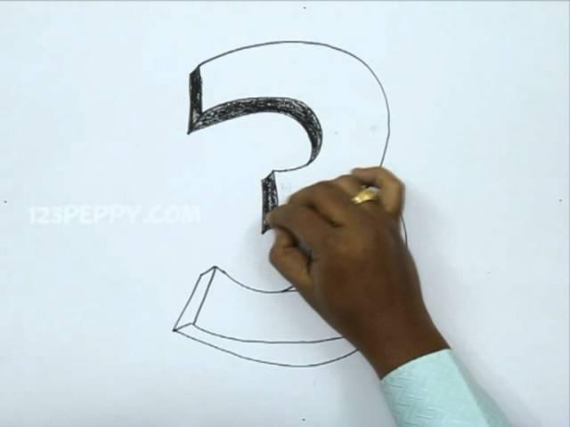 Как нарисовать цифры красиво поэтапно