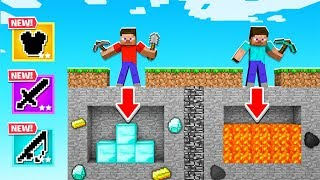 DIGGING Straight DOWN For LOOT in MINECRAFT! (Bad Idea)