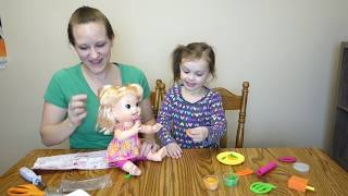 BABY ALIVE UNBOXING!! SNACKIN' SARA POOPS HER PANTS AND ON THE TABLE!