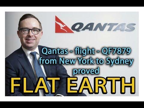 QANTAS flight 7879 from New York to Sydney proved FLAT EARTH thumbnail