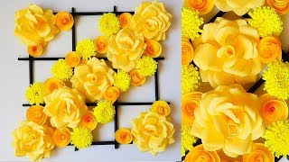 как сделать цветы из бумаги для украшения зала