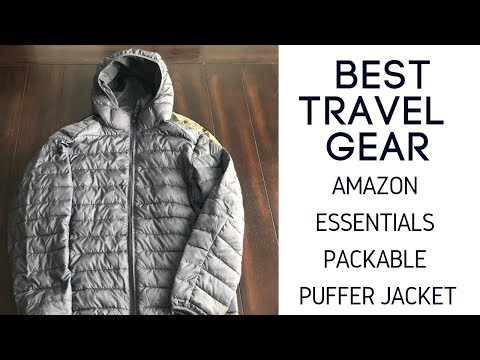 Best Travel Gear: Amazon Essentials Packable Puffer Jacket Review