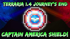 NEW Sergeant United SHIELD in Terraria Journey's End 1.4! Marvel Captain America Shield! Melee Class