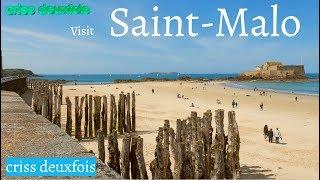 Plage ; Saint Malo ; Bon Secours ; Intra Muros ; 4K ; Visit ; Côte d'Emeraude ; Bretagne ; France