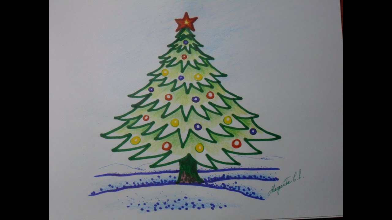 cmo dibujar un arbolito de navidad en caricatura rbol navideo fcil de dibujar