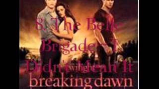 8. The Belle Brigade - I Didn't Mean It (Breaking Dawn - part 1 Soundtrack) [Audio]