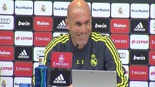Zidane demuestra su felicidad en rueda de prensa
