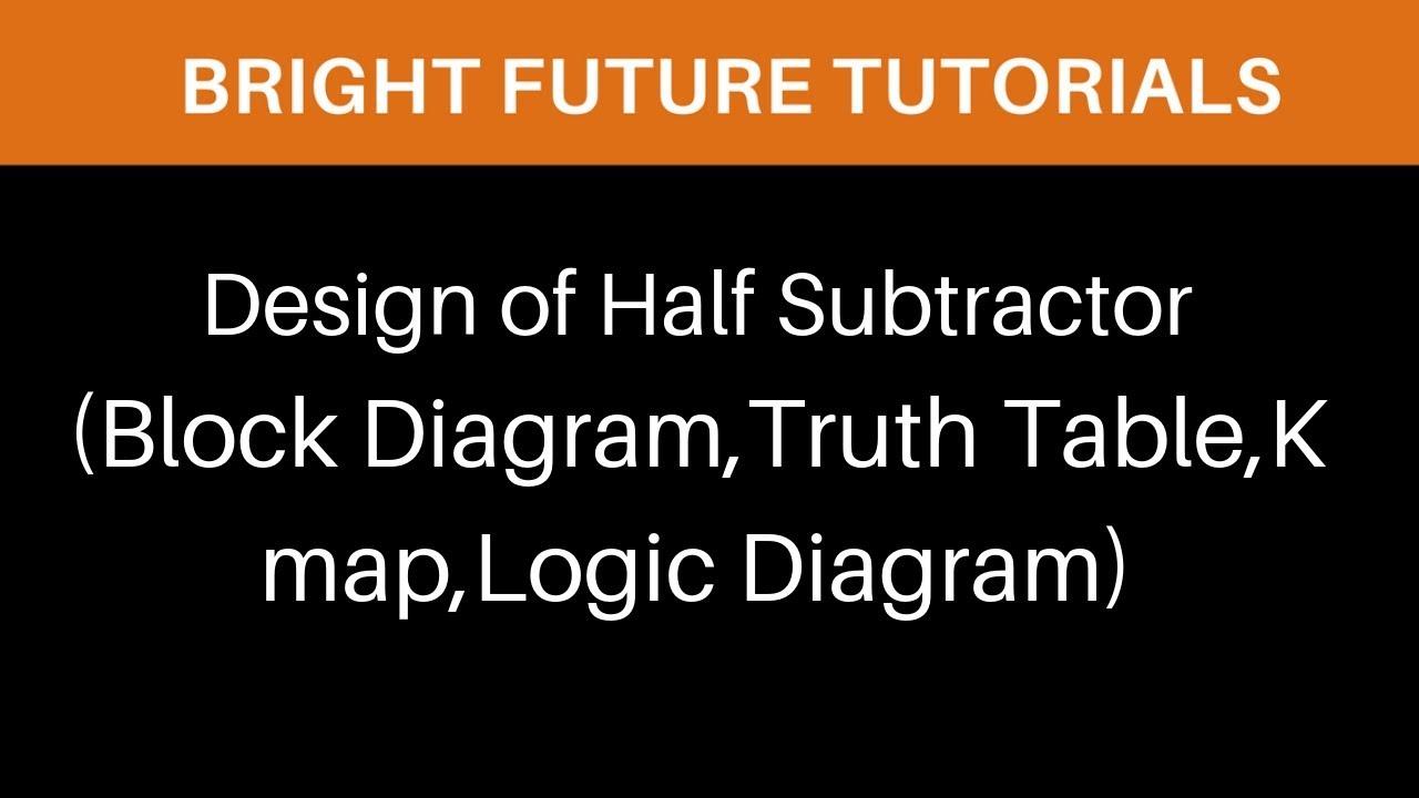 medium resolution of design of half subtractor block diagram truth table k map logic diagram