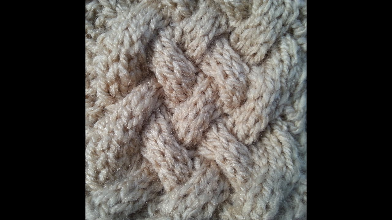 Basket Cable   Knitted Pattern - YouTube