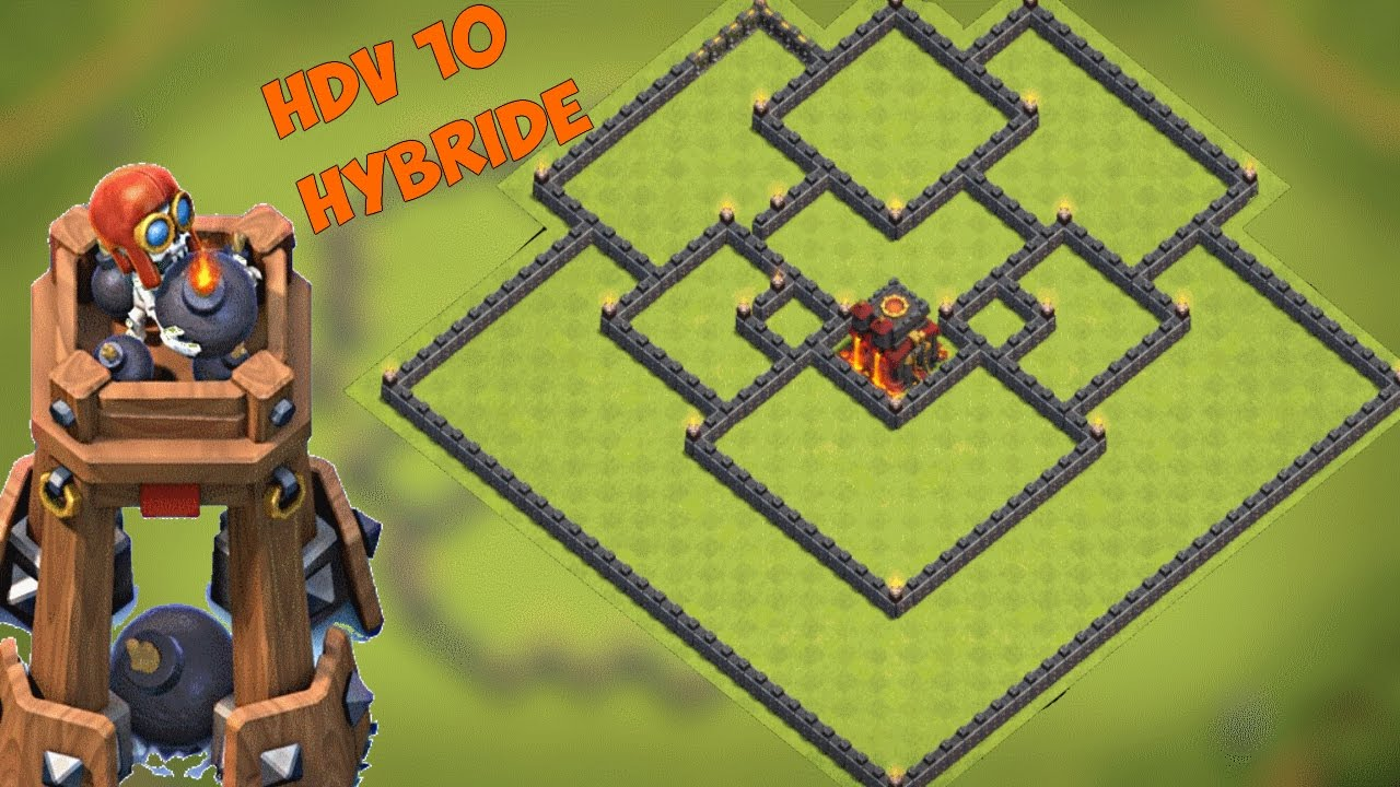 base hdv 10 farm hybride avec tour a bombes post m j octobre 2016 clash of clans youtube. Black Bedroom Furniture Sets. Home Design Ideas
