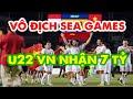 Việt Nam vô địch Sea Games 30 được nhận thưởng 7 tỷ đồng: Tiền thưởng dành cho tuyển U22 Việt Nam sau khi giành chiến thắng trận chung kết SEA Games 30 cùng các phần thưởng ở vòng đấu trước có tổng giá trị ước tính hơn 7 tỷ đồng. Tối 10/12, U22 Việt Nam đánh bại Indonesia với tỷ số 3-0, qua đó lần đầu tiên đoạt huy chương vàng môn bóng đá nam SEA Games. Với thành tích đạt được, thầy trò HLV Park Hang-seo nhận được hơn 7 tỷ đồng tiền thưởng.  Cụ thể, ông Lê Văn Kiểm, Chủ tịch Công ty Golf Long Thành, thưởng 1 tỷ đồng; Công ty cổ phần Tập đoàn F.I.T thưởng 1 tỷ đồng; Ngân hàng TMCP Ngoại Thương Việt Nam (Vietcombank) thưởng 1 tỷ đồng.  Tập đoàn Hưng Thịnh thưởng 1 tỷ đồng. Vingroup cho biết sẽ thưởng nhưng chưa công bố cụ thể.  Thương hiệu Metro Star của Tập đoàn C.T Group thưởng 1 tỷ đồng và một chuyến nghỉ dưỡng tại Vũng Tàu cho tuyển U22 Việt Nam với chức vô địch SEA Games.  Doanh nghiệp này cũng tặng 200 triệu đồng cho Đoàn Văn Hậu sau tình huống ghi bàn đưa tuyển U22 Việt Nam vươn lên dẫn trước U22 Indonesia 1-0.  Văn Hậu cũng nhận 100 triệu đồng từ Pinaco khi trở thành cầu thủ đội tuyển bóng đá nam Việt Nam ghi bàn đầu tiên trong trận chung kết. Cầu thủ gốc Thái Bình nhận tổng cộng 300 triệu đồng tiền thưởng nhờ tình huống đánh đầu ở phút thứ 39.  Bên cạnh hơn 5 tỷ đồng tiền thưởng sau trận chung kết, toàn bộ tuyển thủ đội tuyển bóng đá nam, nữ Việt Nam và thành viên ban huấn luyện tham dự SEA Games 30 sẽ được tài trợ 1 năm bay miễn phí từ hãng hàng không Bamboo Airways.  Đại diện hãng hàng không Vietjet cho biết sẽ tặng 1 năm bay miễn phí trên 135 đường bay của hãng cho các tất cả cầu thủ và thành viên ban huấn luyện đội tuyển bóng đá nam, nữ Việt Nam.  Sun Group tuyên bố dành tặng các tuyển thủ và ban huấn luyện hai đội tuyển bóng đá nam và nữ SEA Games 30 kỳ nghỉ dưỡng tại một trong các resort 5 sao của tập đoàn này trên cả nước. Sun Group cho biết sẽ liên lạc với Liên đoàn bóng đá Việt Nam để thực hiện gói tài trợ này. Tổng số tiền tài trợ của Sun Group khoả