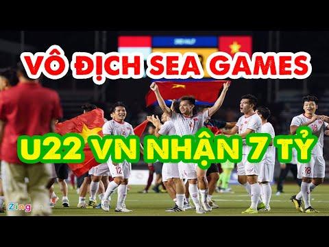 Việt Nam vô địch Sea Games 30 được nhận thưởng 7 tỷ đồng