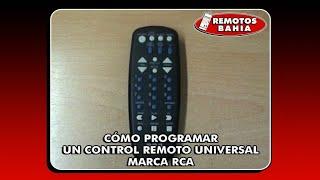 C?MO PROGRAMAR CONFIGURAR UN CONTROL REMOTO UNIVERSAL RCA RCU404 REMOTOS BAHIA