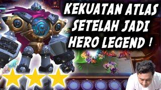 JADI INI KEKUATAN ATLAS SETELAH JADI 5 GOLD ??? HERO WEAPON MASTER TERMAHAAAAL !!!