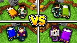 YOUTUBER CHALLENGE! (Minecraft Bed Wars 1v1v1v1)