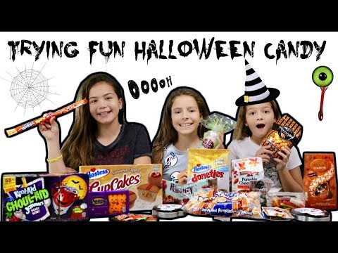 TRYING FUN HALLOWEEN CANDY | SISTER FOREVER