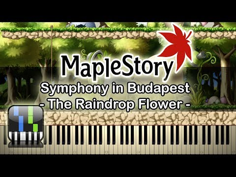 🍍 The Raindrop Flower(에레브 수련의 숲) - Symphony in Budapest - [Maplestory] - Synthesia Piano Tutorial🥥