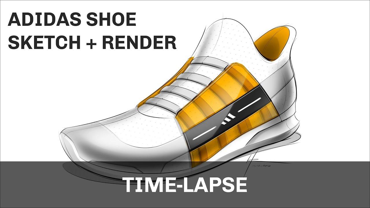 Adidas Shoe Sketch and Render | SketchBook Pro