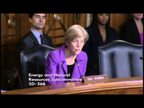 Senator Elizabeth Warren - National Parks Legislative Hearing