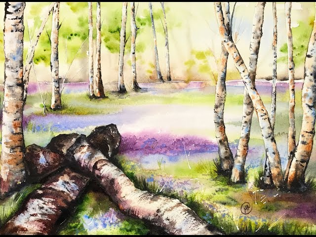 Enchanted Forest in Watercolors Painting Demonstration